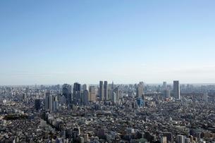 新宿副都心ビル群の空撮の写真素材 [FYI02948386]
