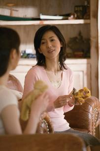 ぬいぐるみを作る女性の写真素材 [FYI02949500]