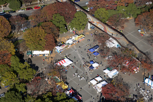 代々木公園周辺の空撮の写真素材 [FYI02949945]