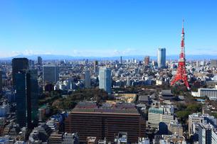 東京タワーと麻布方面の街並みの写真素材 [FYI02953474]