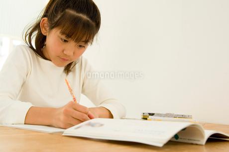勉強をする日本人の女の子の写真素材 [FYI02954534]