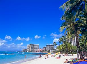 ワイキキビーチ ハワイの写真素材 [FYI02957710]