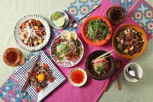 アジアン料理集合の写真素材 [FYI02957905]