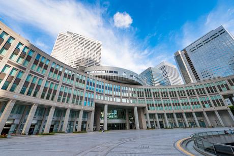 都民広場から都議会議事堂の写真素材 [FYI02958069]
