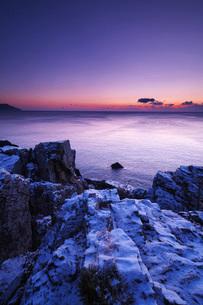 碁石海岸の朝の写真素材 [FYI02958467]