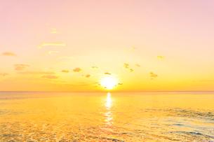 朝日と海の写真素材 [FYI02958556]