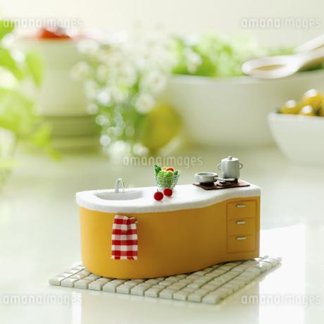 ミニチュワのキッチンの写真素材 [FYI02959018]