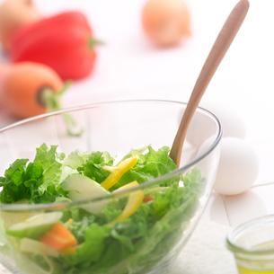 朝食と野菜サラダの写真素材 [FYI02959115]