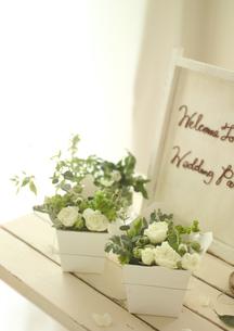 ウェルカムボードとプレゼントの写真素材 [FYI02959467]