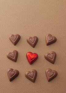 複数のハートのチョコレートの写真素材 [FYI02959485]