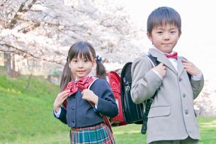 ランドセルを背負う新入学生の写真素材 [FYI02961310]