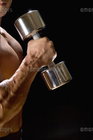 ダンベルを持つ腕の写真素材 [FYI02961747]
