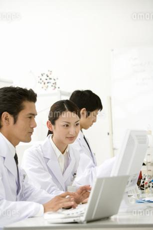 パソコンを見る研究員の写真素材 [FYI02963534]