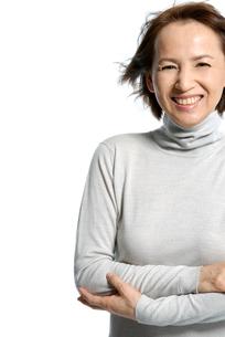 40代日本人女性のポートレートの写真素材 [FYI02966479]