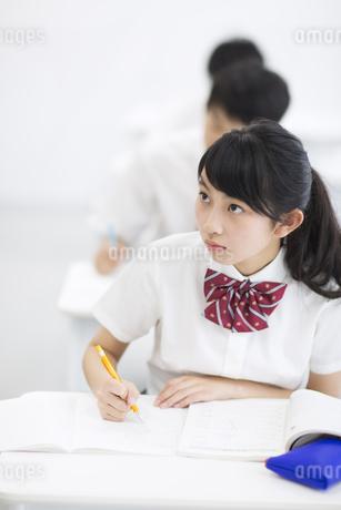 授業を受ける女子学生の写真素材 [FYI02968243]