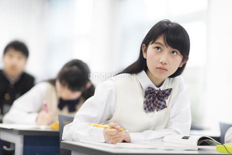 授業を受ける女子学生の写真素材 [FYI02968271]