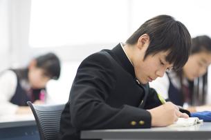 授業を受ける男子学生の写真素材 [FYI02968402]