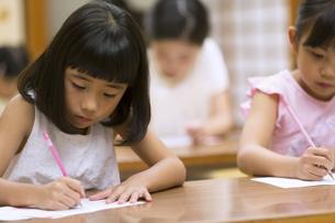 塾の合宿で授業を受ける女の子の写真素材 [FYI02968861]