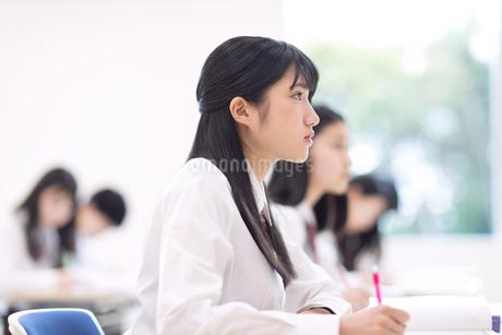 授業を受ける女子高校生の写真素材 [FYI02969209]