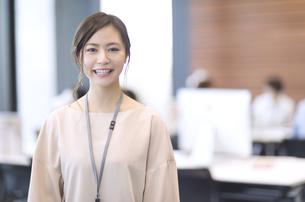 カメラ目線で笑顔のビジネス女性の写真素材 [FYI02969280]