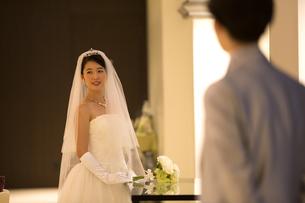 ウェディングドレス姿の新婦の写真素材 [FYI02969419]