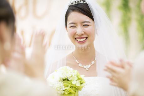 友人に祝福される新婦の写真素材 [FYI02969532]