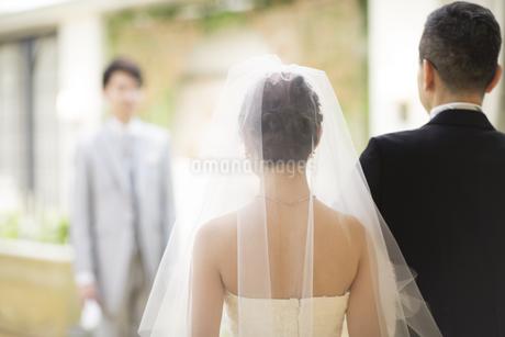 入場する新婦と父親の写真素材 [FYI02969621]