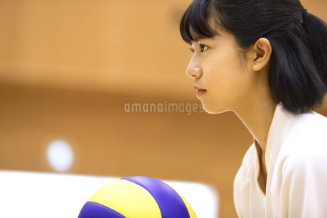 バレーボールをする女子学生の写真素材 [FYI02969704]