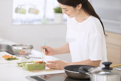 お弁当を作る女性の写真素材 [FYI02970118]