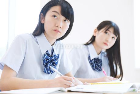 授業を受ける女子高校生の写真素材 [FYI02970272]