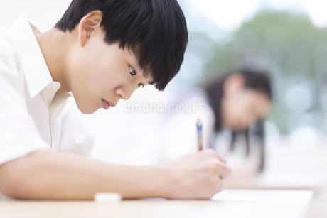 テストを受ける男子高校生の写真素材 [FYI02970533]