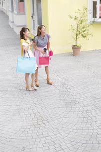 ショッピングを楽しむ2人の女性の写真素材 [FYI02971368]