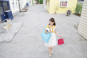 ショッピングを楽しむ女性の写真素材 [FYI02971943]