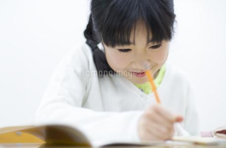 勉強をする女の子の写真素材 [FYI02972685]