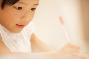 勉強をする女の子の写真素材 [FYI02973075]