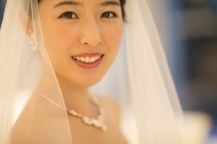 ウェディングドレス姿の新婦の写真素材 [FYI02973505]