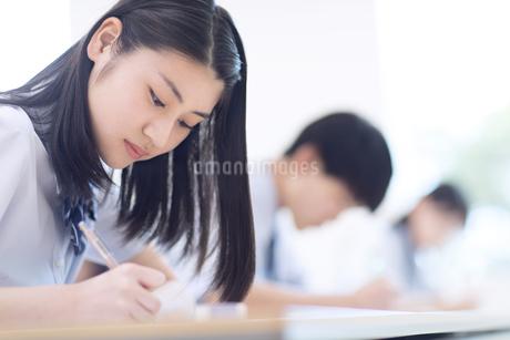 テストを受ける女子高校生の写真素材 [FYI02973518]