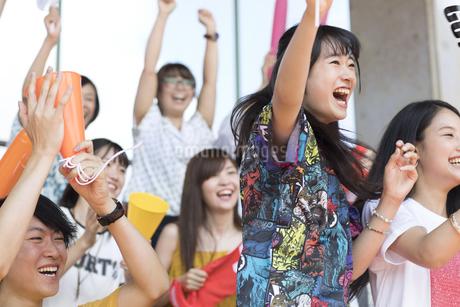 スポーツを観戦する人々の写真素材 [FYI02974043]