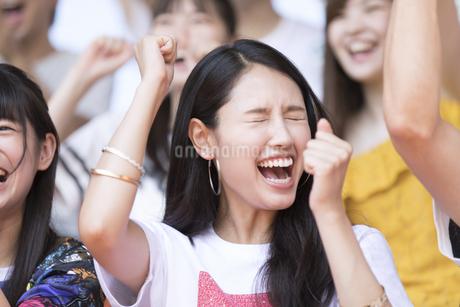 スポーツを観戦する女性の写真素材 [FYI02974080]