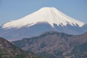 鳥ノ胸山から眺める富士山の写真素材 [FYI02974138]