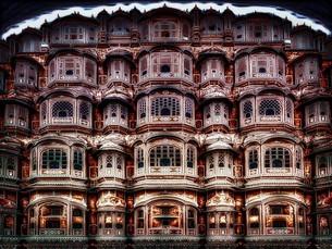 インド ジャイプール 風の宮殿の写真素材 [FYI02974254]