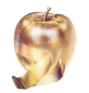 金のリンゴのイラスト素材 [FYI02974263]