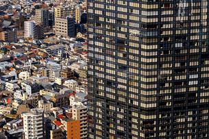 東京の高層ビルと密集した住宅街の写真素材 [FYI02974522]