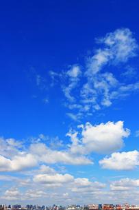 東京湾から見た東京の町並みと広い空の写真素材 [FYI02974527]