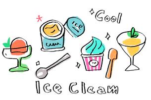 アイスクリーム いろいろのイラスト素材 [FYI02975868]