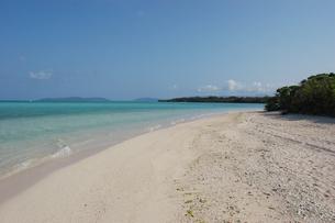 エメラルドグリーンの海と白い砂浜の写真素材 [FYI02975958]