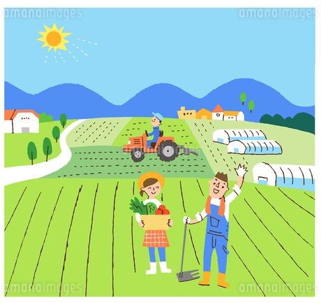 農家のイラスト素材 [FYI02976010]