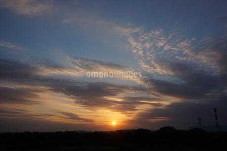 夕焼けの写真素材 [FYI02976393]