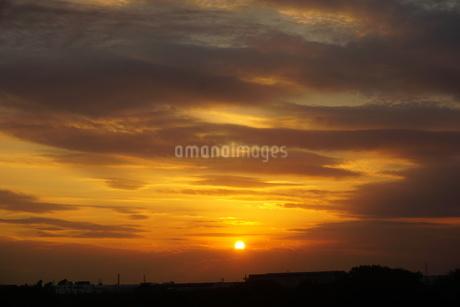 夕焼けの写真素材 [FYI02976397]