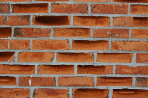 古くなったレンガの壁の写真素材 [FYI02976867]